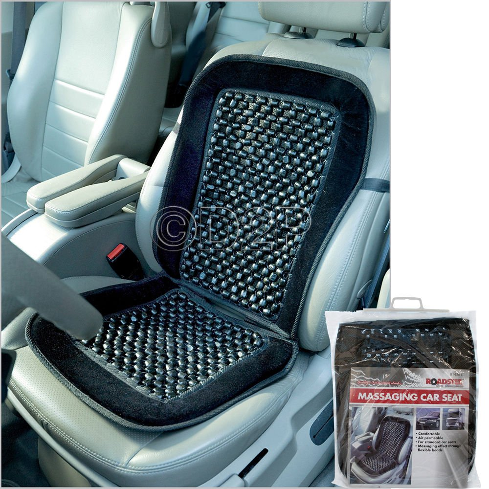 BEADED CAR SEAT COVER MASSAGING RELAX UNIVERSAL TAXI VAN FRONT CHAIR  CUSHION NEW