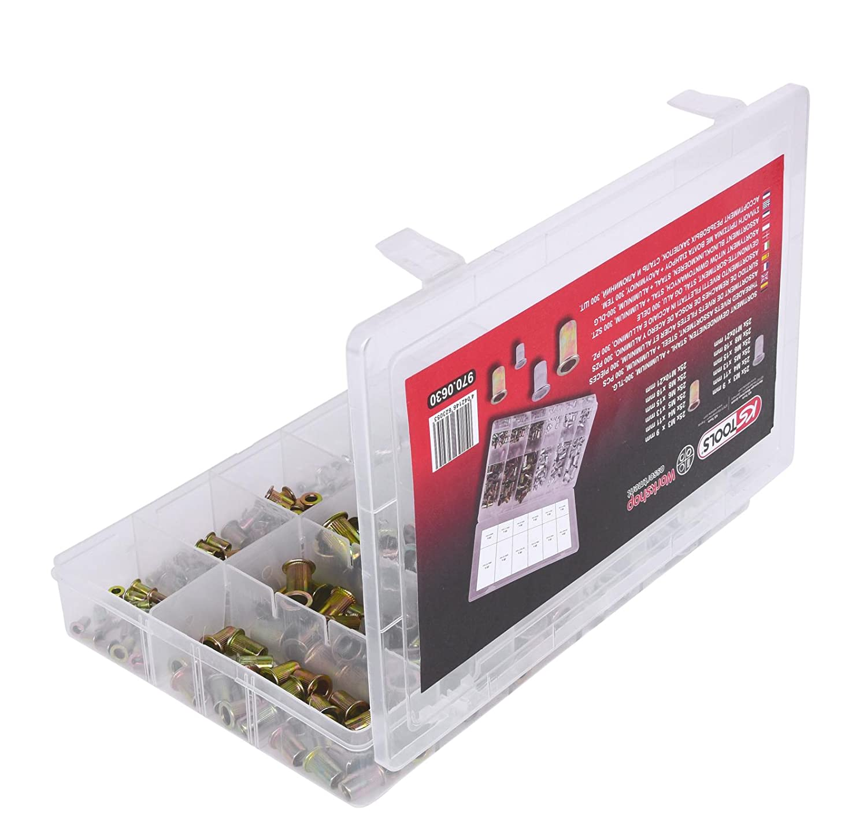 Roscado remaches surtido de acero aluminio KS Tools 970.0630