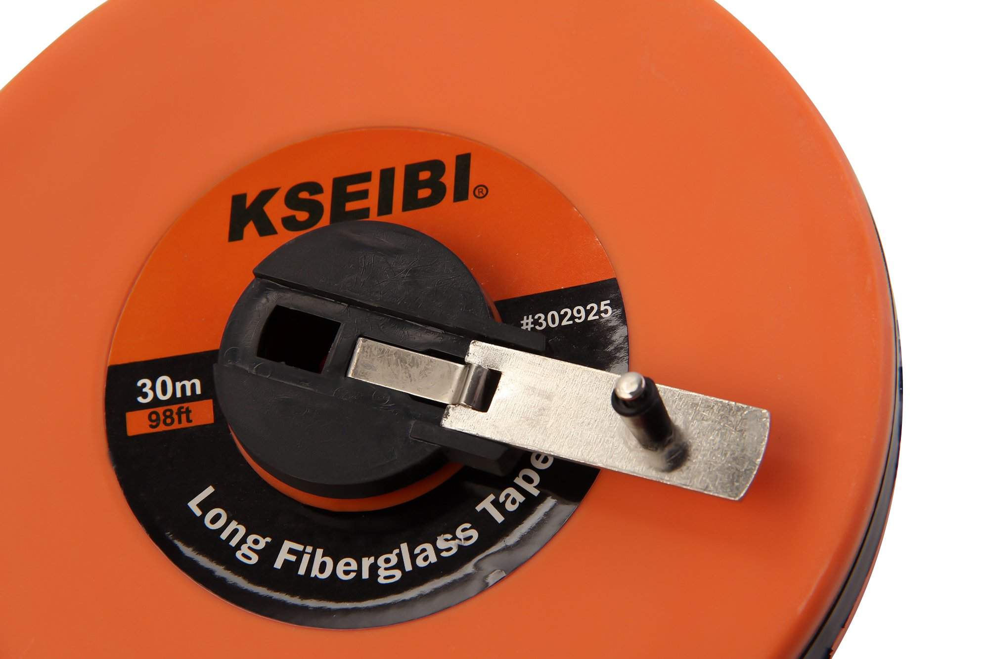 KSEIBI 302940 Long Fiberglass Tape Measure Double Face Printing Inch/Metric for Construction Work (150ft/50m) by KSEIBI (Image #2)