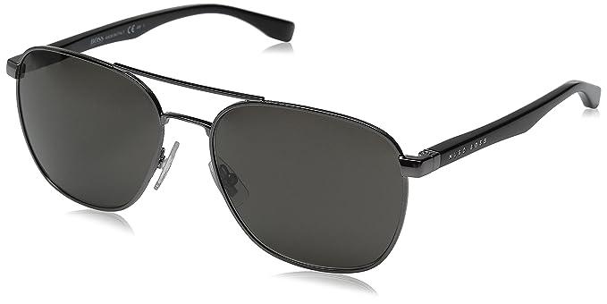 2e23be31c0 Amazon.com  BOSS by Hugo Boss Men s B0701S Aviator Sunglasses