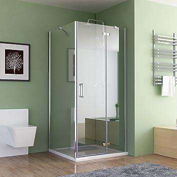 Großartig 90 x 75 x 195 cm Duschkabine Eckeinstieg Dusche Falttür Duschwand  QU94