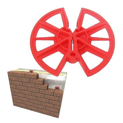 250 x Insulation Retaining Discs Cavity Wall Tie 80mm Clips / Celotex  Kingspan