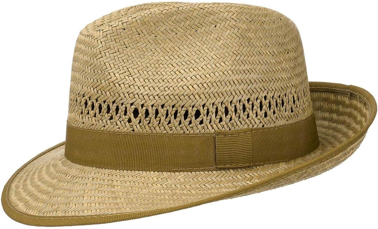 Made in Italy Sol Playa con Banda Grosgrain Primavera//Verano Lipodo Sombrero de Paja Basic Bogart Mujer//Hombre