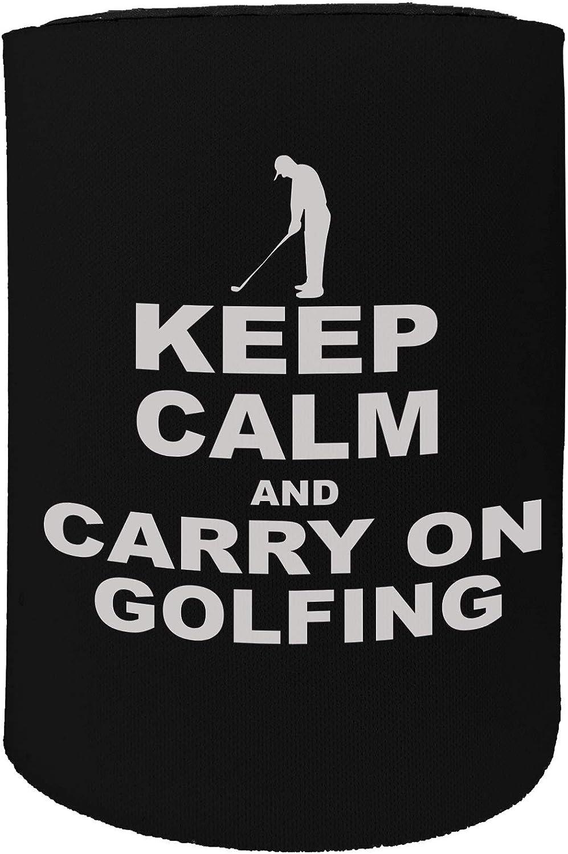 Funny Novelty Birthday Stubbie Short OOB Keep Calm Golfing Stubby Holder