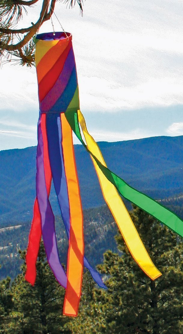 Spiral Rainbow Column Windsock, 40''