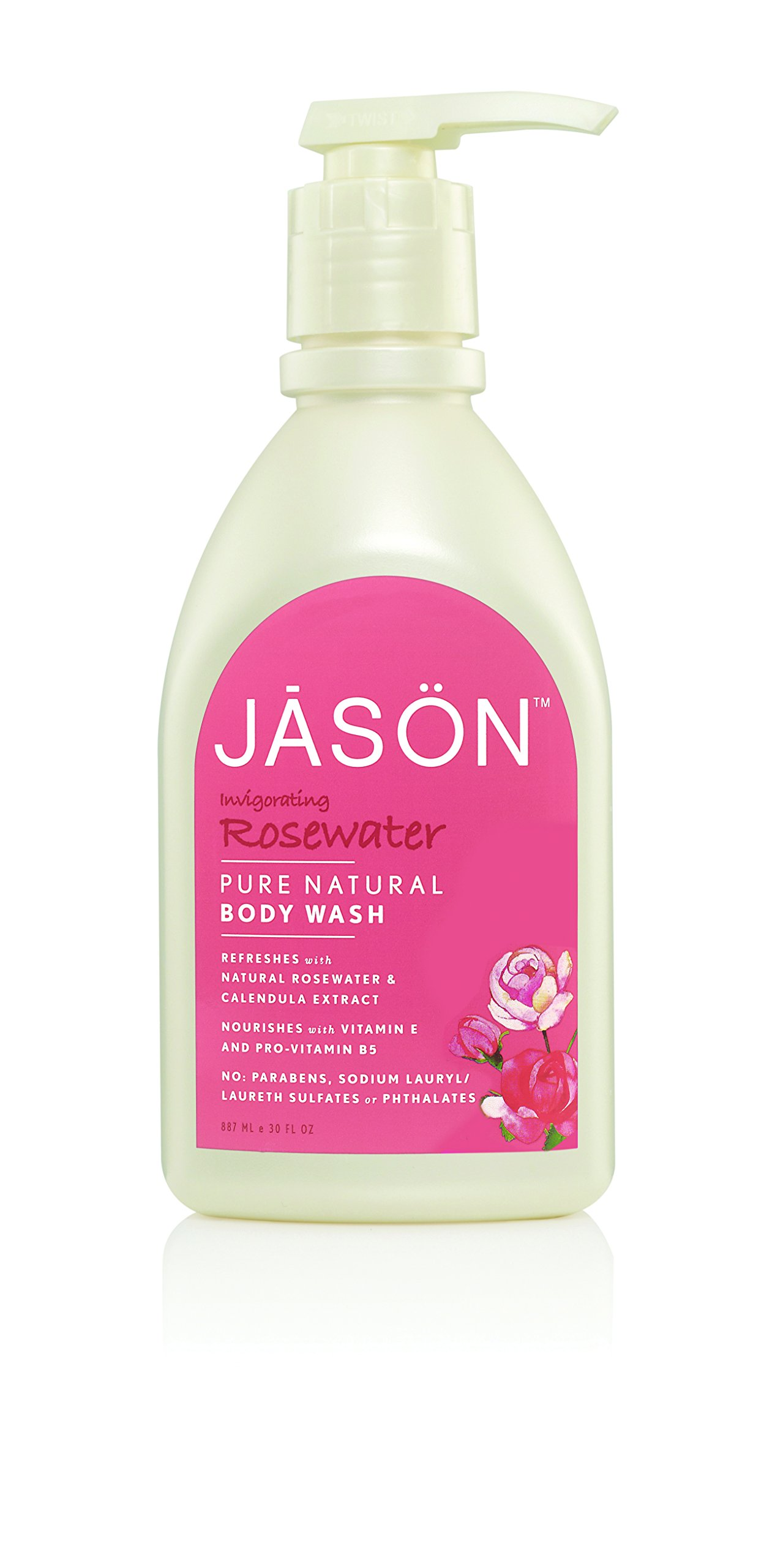 JASON Rosewater Body Wash, 30 Oz (Packaging May Vary)