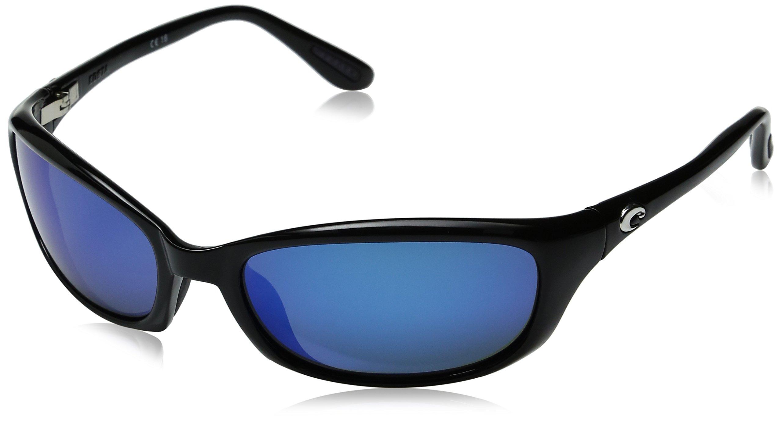 COSTA DEL MAR Harpoon Polarized Oval Sunglasses, Black, 61.5 mm by Costa Del Mar