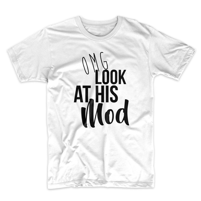 Omg Look At His Mod E Cig Vaping Cloud Chaser T Shirt X 9874