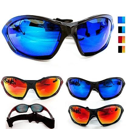 10d41006912 Amazon.com  1 Chopper Strap Wind Resistant Sunglasses Motorcycle Riding  Glasses Sport Lens  Sports   Outdoors