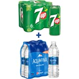 7up Soft Drink 6 x 355 ml + Aquafina Water 6 x 500 ml