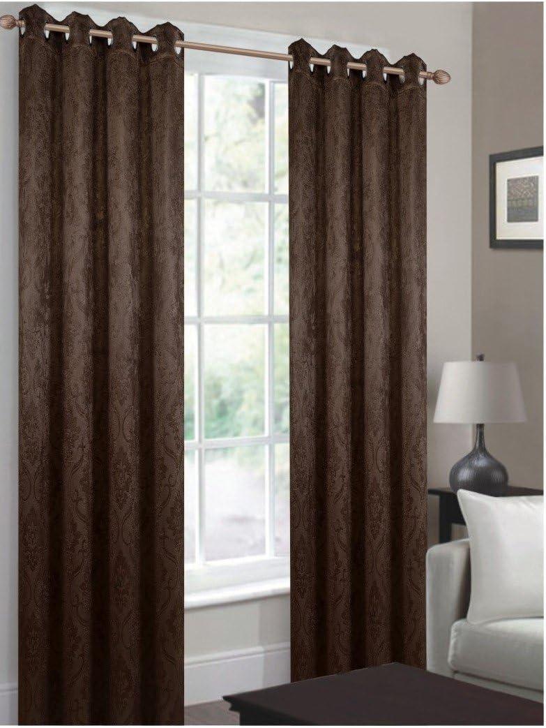 CHD Home Textiles Bellport Curtain Panel, Brown