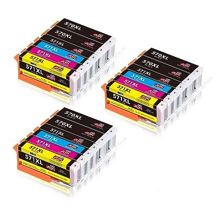 JIMIGO PGI-570XL CLI-571XL Cartuchos de Tinta Reemplazo Para Canon ...