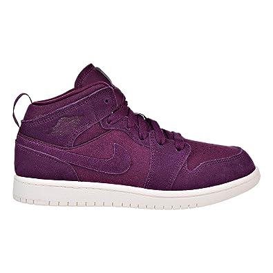 promo code 3e4ba 1cd94 Jordan 1 Mid Boys Litttle Kids Shoes Bordeaux Sail 640734-625 (1 M