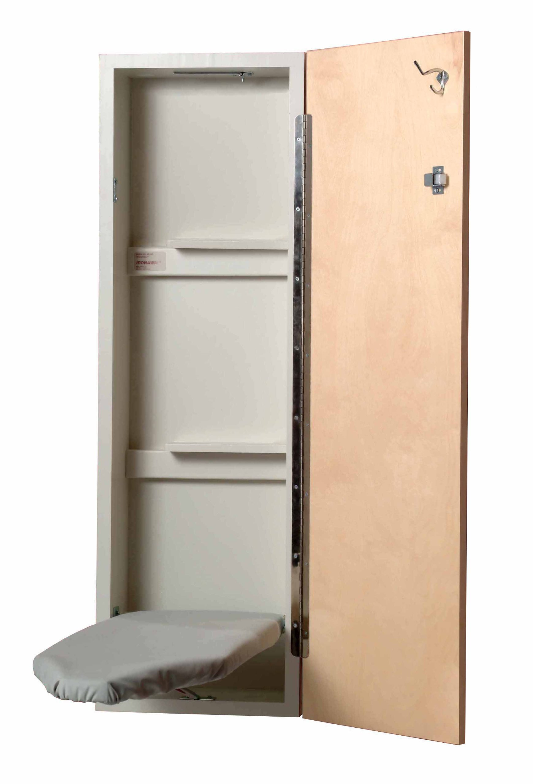 Iron-A-Way NES421AU NE-342 Non-Electric Ironing Center with Swivel Board, Birch