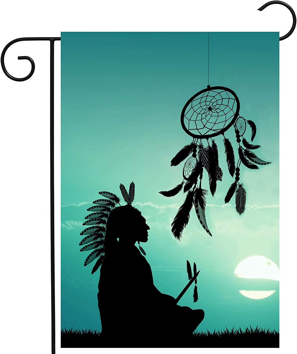 ShineSnow American Native Indian Tribal Culture Lucky Dreamcatcher Blue Garden Yard Flag 12