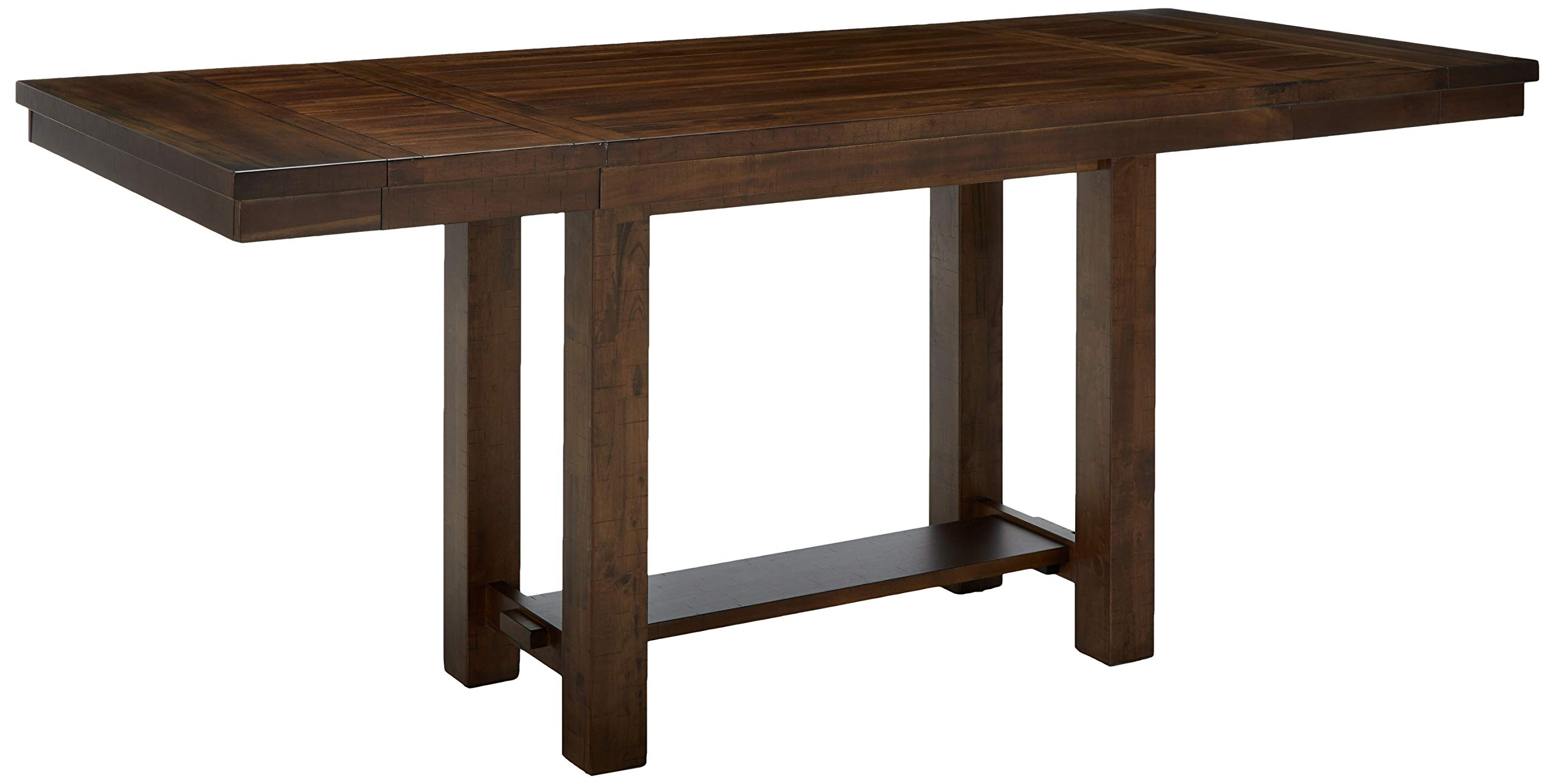 Ashley Furniture Signature Design - Moriville Counter Height Dining Room Table - Grayish Brown by Signature Design by Ashley