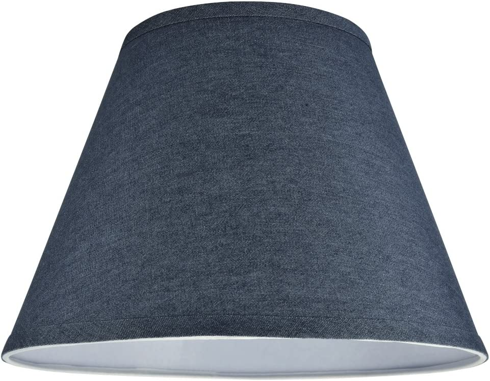 Aspen Creative 32182 Transitional Hardback Empire Shape Spider Construction Lamp Shade in Washed Blue, 13 wide 7 x 13 x 9 1 2
