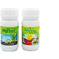 BIGROOT®+ KELPMAX® (5.000 m2). Vitaminas/Multinutrientes/Algas; Calidad-cuidado integral plantas. Fertilizante especial. Potente Bio-estimulante- potenciador de la raíz. Ecológico.