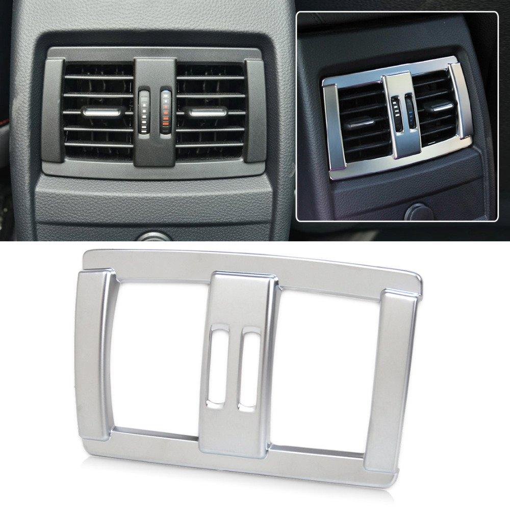 Matt Silver Interior Rear Seat Air Conditioning Vent Cover Trim Decoration for 1 2 3 4 Series F20 F21 F22 F23 F30 F34 2012 2013 2014 2015 2016 DIYUCAR