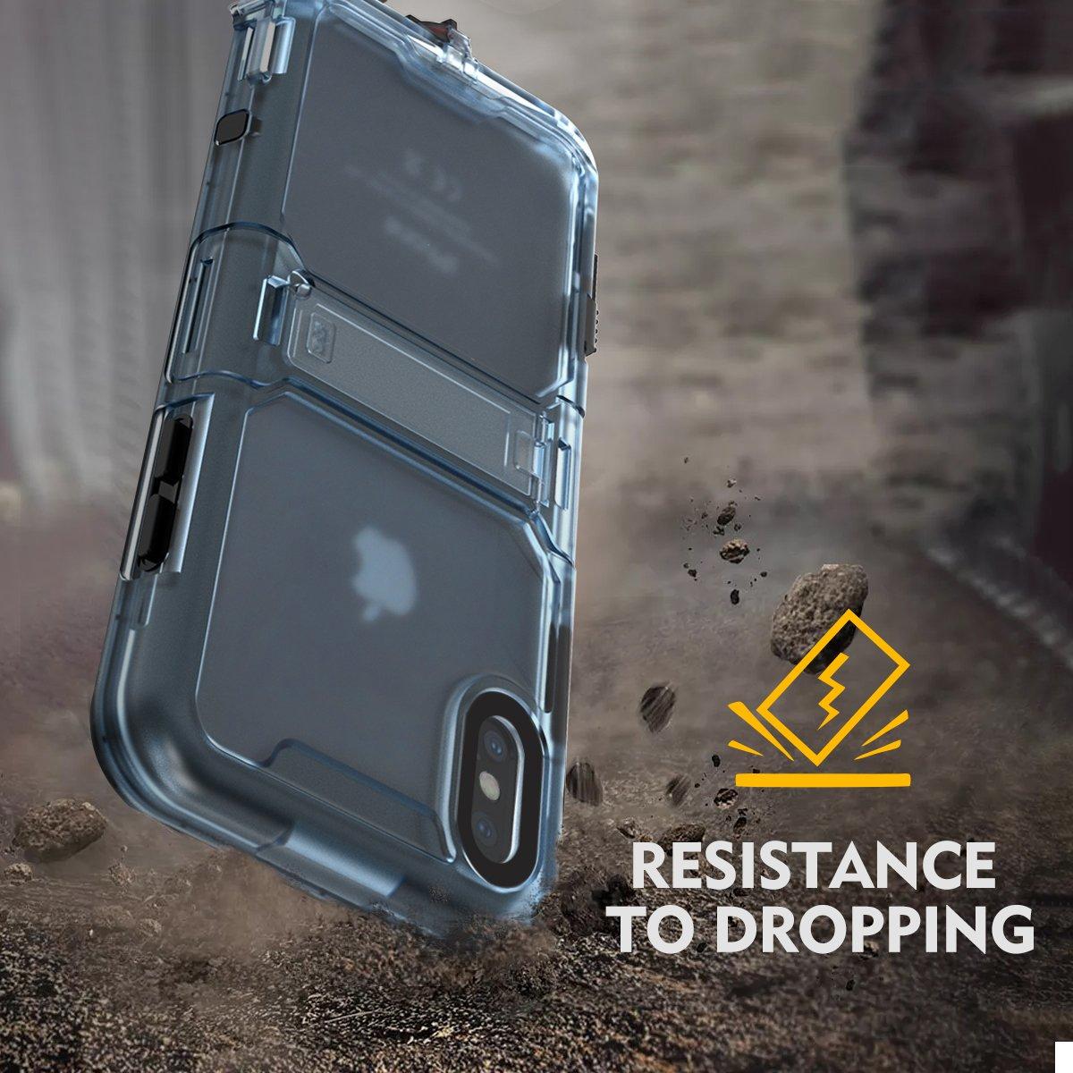 Cornmi iPhone X Waterproof Case, Full Sealed IP68 Certified Waterproof Shockproof Snowproof Protection Underwater Case for iPhone X 5.2inch (Black) by Cornmi (Image #6)