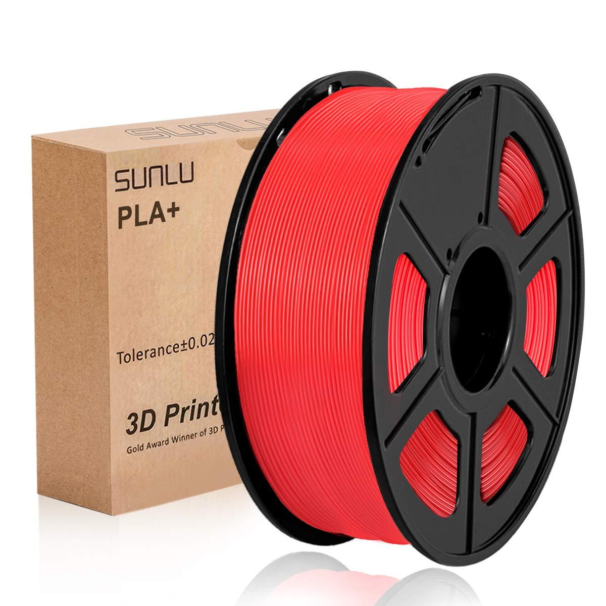 1KG 3D Printing Filament Low Odor Blue PLA+ /… 1.75mm PLA Filament Dimensional Accuracy +//- 0.02 mm SUNLU 3D Printer Filament PLA Plus Spool 3D Filament 2.2 LBS