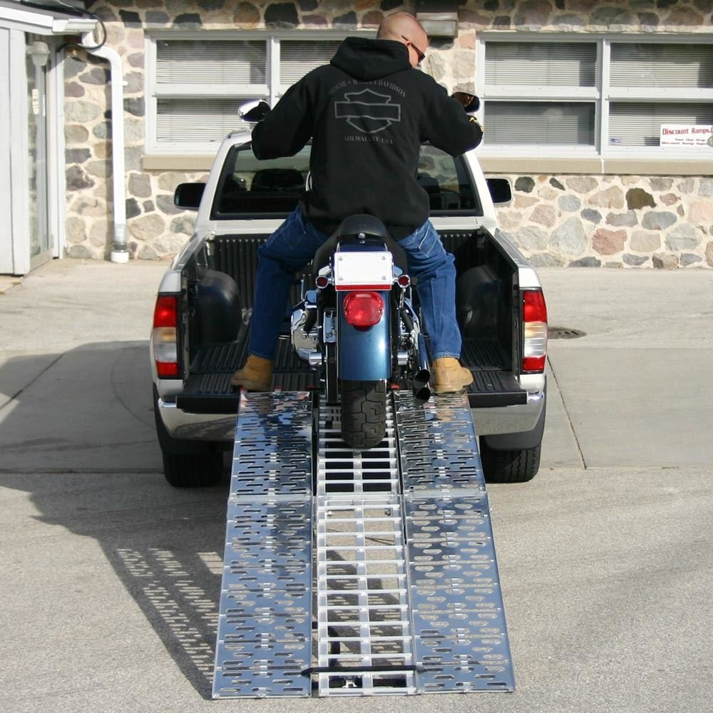 Black Widow 89'' Arched Folding Motorcycle Ramp System by Black Widow (Image #2)