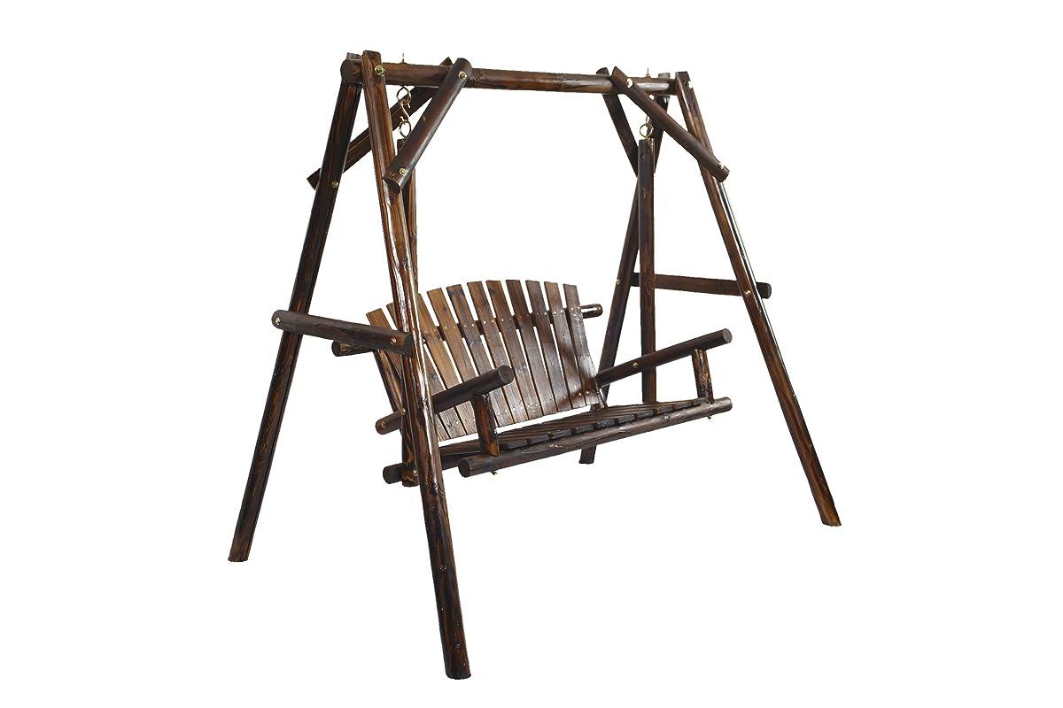 American Furniture Classics Log Swing, Burnt