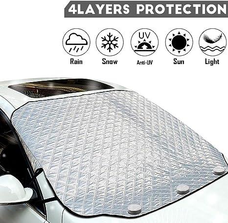 CWWHY Copertura per Parabrezza Magnete Ice Protection Telo per Parabrezza Auto Protezione da Ghiaccio E Neve 240CM*120CM per Auto Standard