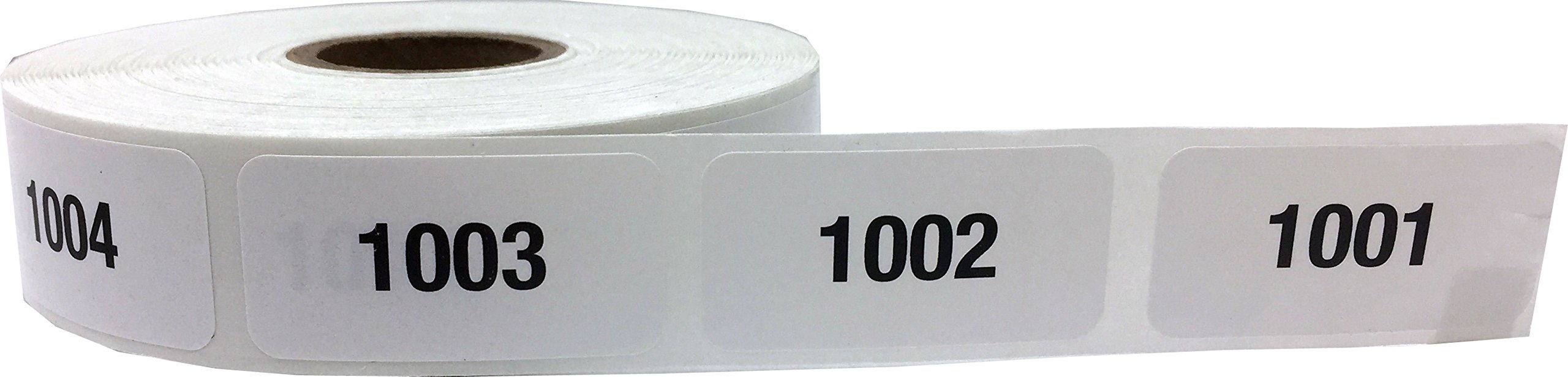 Consecutive Number Labels Bulk Pack Numbers 1 Through 10,000 White/Black .75 x 1.5 Rectangle Small Number Stickers For Inventory by InStockLabels.com (Image #4)