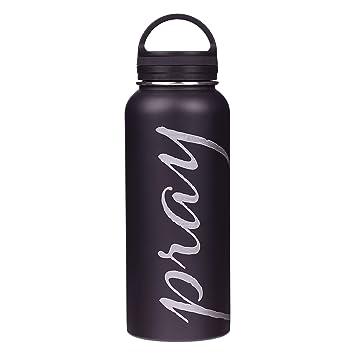 Amazon.com: Pray - Botella de agua (acero inoxidable ...