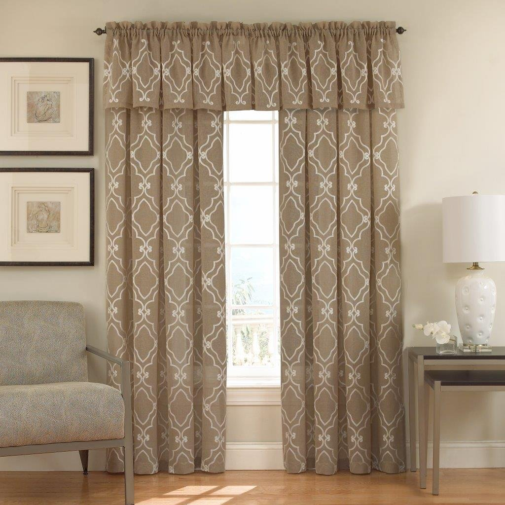"Lorraine Home Fashions Carlyle Window Curtain Panel, 50 x 63"", Mocha"