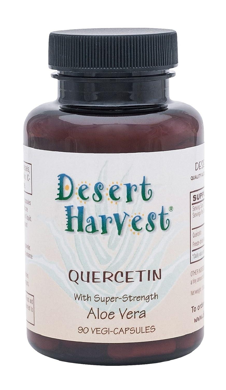 Desert Harvest Quercetin 500 mg 90 Capsules Antihistamine Anti-inflammatory. Antioxidant flavonoids Found in Fruits Vegetables Support Collagen Development Immune Response