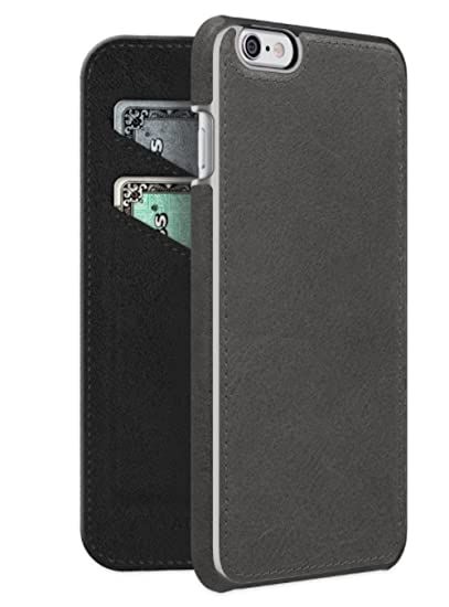 purchase cheap b8670 3926a ADOPTED Leather Folio Case for iPhone 6s Plus, iPhone 6 Plus in BLACK-  APH13227