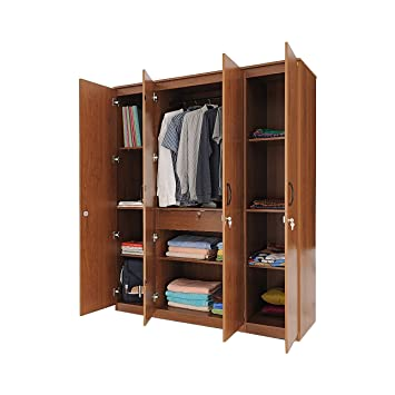 zuari furniture wardrobe. Zuari FourDoor Wardrobe Natural Finish Brown Furniture U