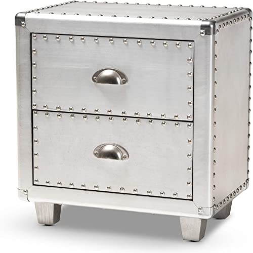 Baxton Studio Nightstands, One Size, Silver