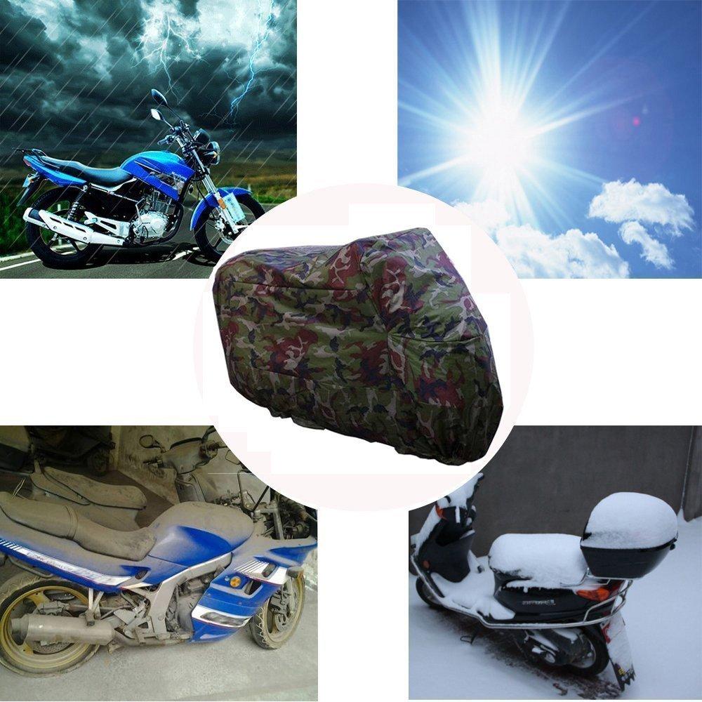 ANFTOP imperm/éable /à leau Housse de Moto 3XL Camouflage Couleur UV de Protection Anti-poussi/ère Scooter Respirant Housse