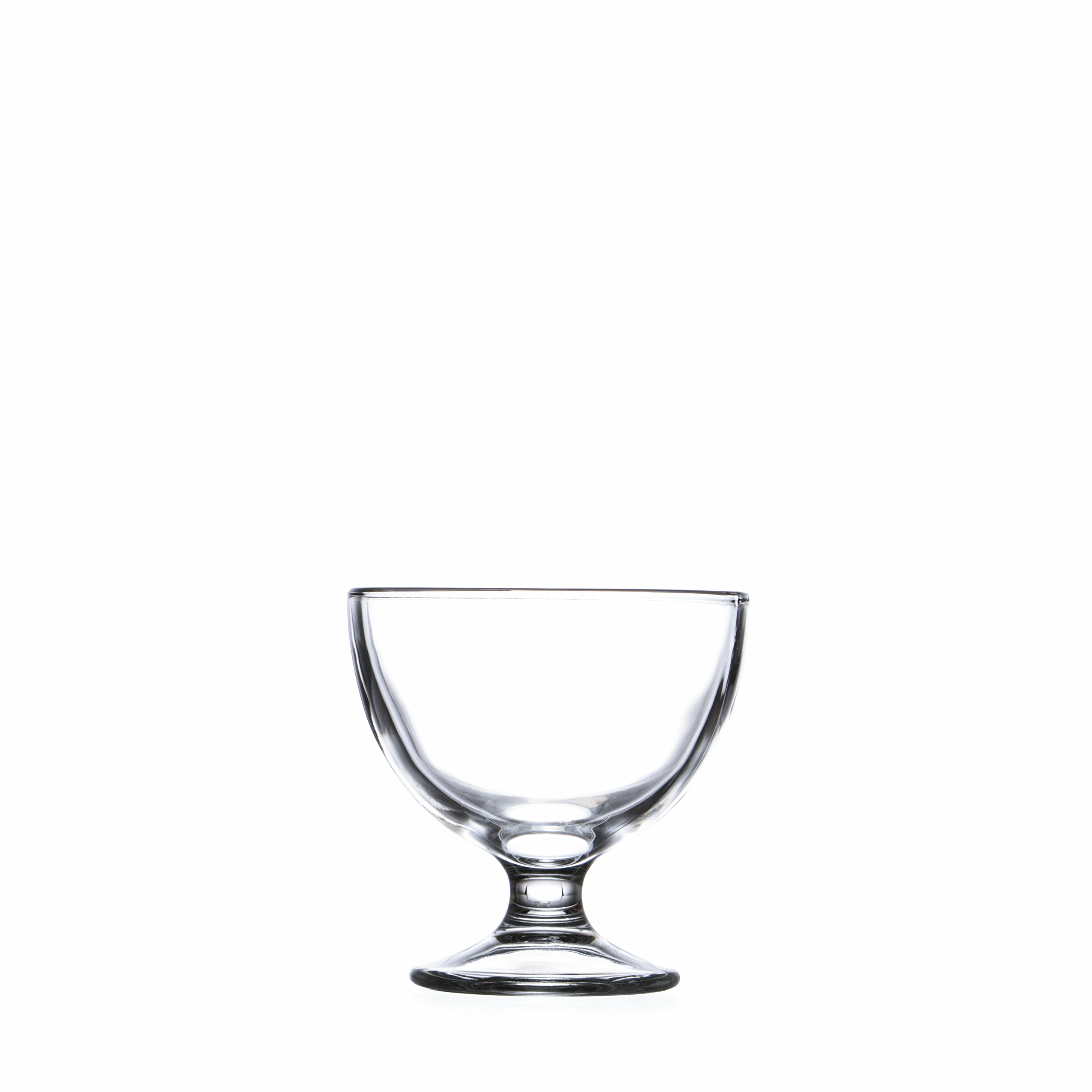 Smart And Cozy Ice Cream Dessert Bowls 10.3 oz./310 ml, Sherbet Glass Bowls, Cream&Berry Dishes, Clear Glass, Set of 4-12 piece (6) by Smart And Cozy (Image #1)