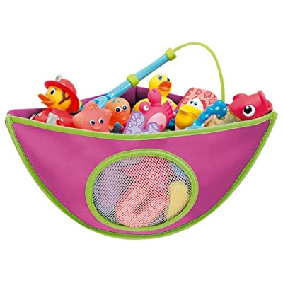 Junsi Children's Bath Toys Baby Bath Toy Container Waterproof Storage Bag Sac de rangements with Suctions in Bathroom Triangle