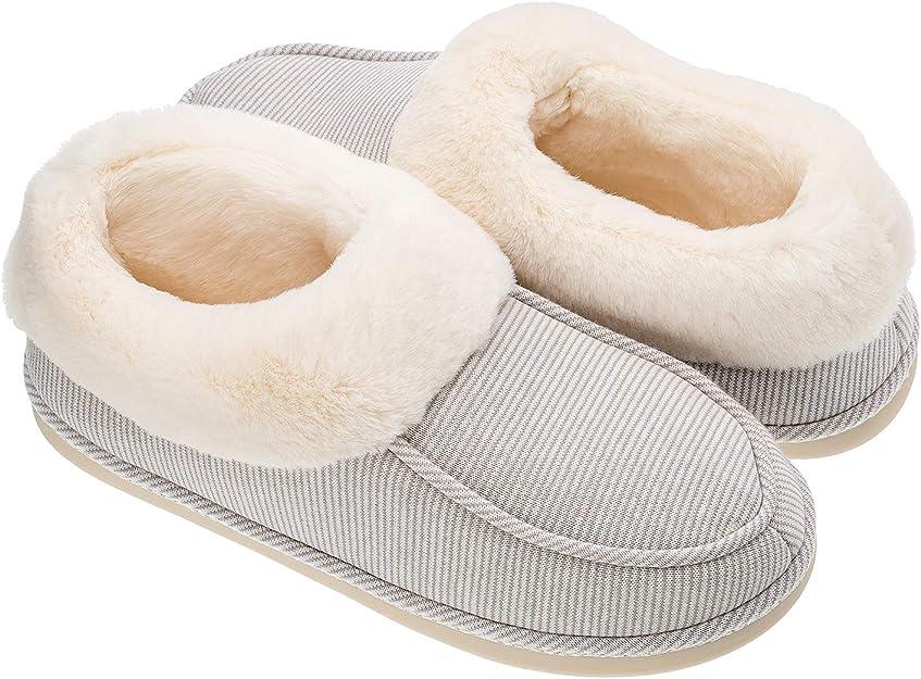 Echoapple - Zapatillas de algodón para mujer con forro polar de lana para interior y exterior, antideslizantes: Amazon.es: Zapatos y complementos