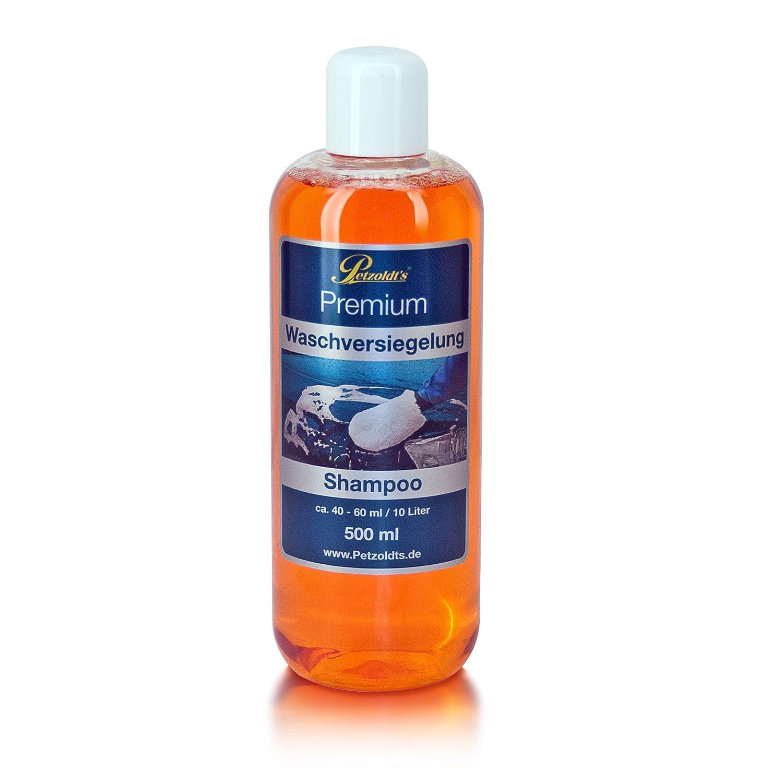 Petzoldt's Premium Waschversiegelung in 500ml, Lack-Reinigung und Nano-Schutz mit effektivem Lotus-Abperleffekt Petzoldt' s