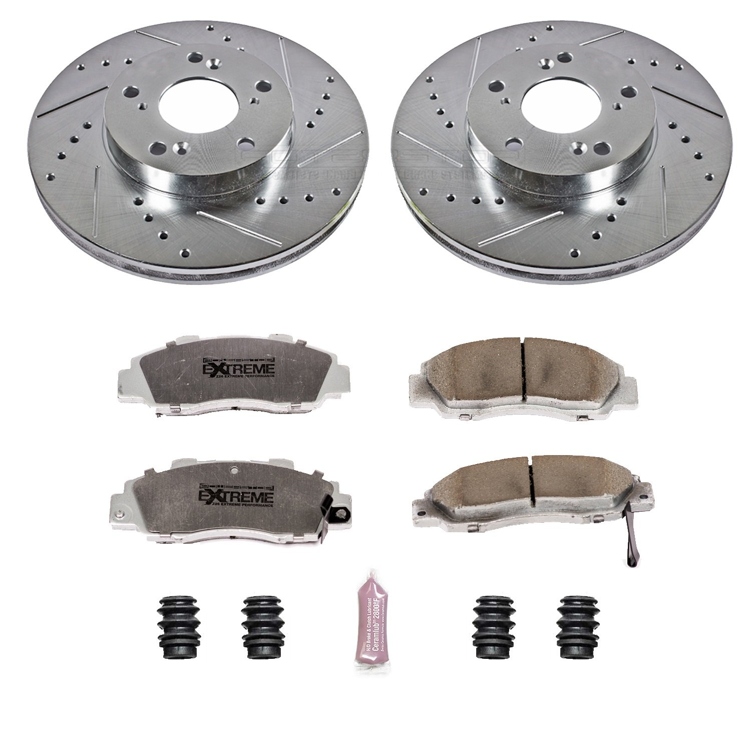 Power Stop K1041-26 1-Click Street Warrior Z26 Brake Kit by Power Stop