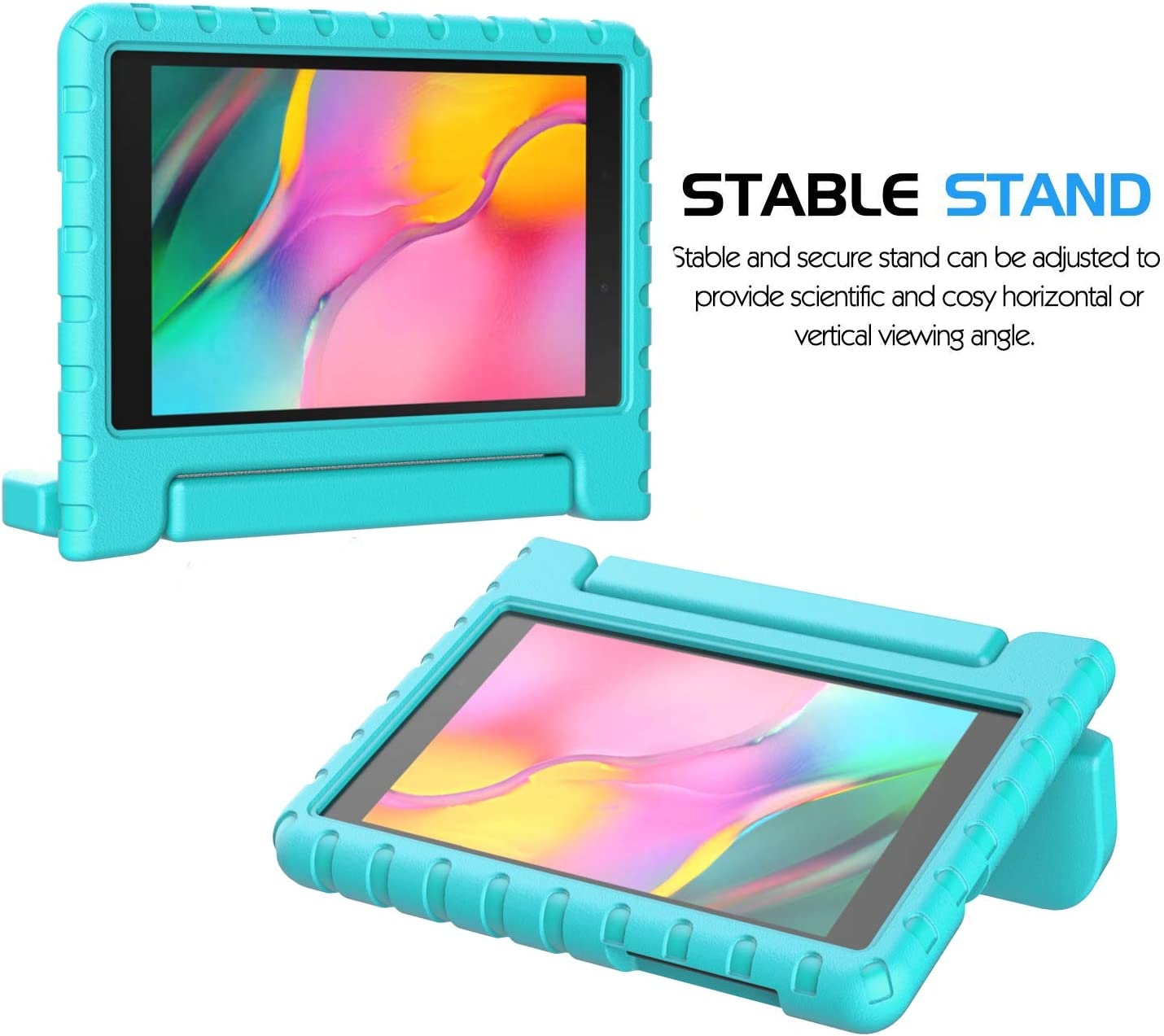 BMOUO Kids Case for Samsung Galaxy Tab A 8.0 2019 SM-T290//T295 Galaxy Tab A 8.0 Case 2019 Rose Shockproof Light Weight Protective Handle Stand Case for Galaxy Tab A 8.0 Inch 2019 Without S Pen