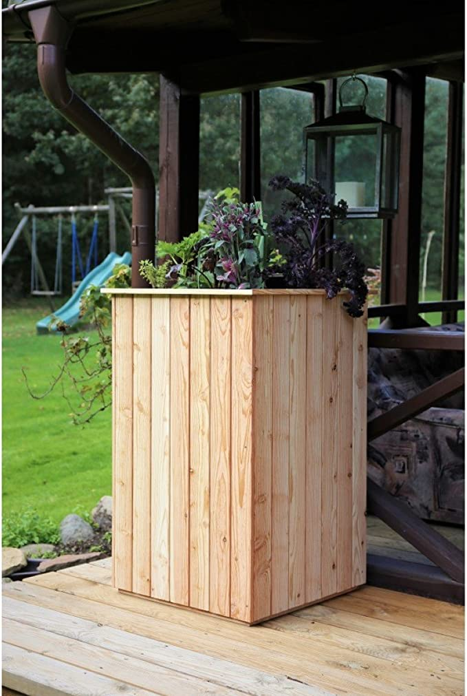 Bancal, madera de alerce, sin suelo, 60 x 60 x h 100 cm madera semillero Maceta verduras Bancal: Amazon.es: Jardín