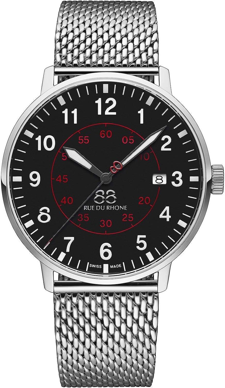 88 Rue du Rhone Reloj de Cuarzo Suizo Newold Collection para Hombre 87WA184001 Esfera Negra