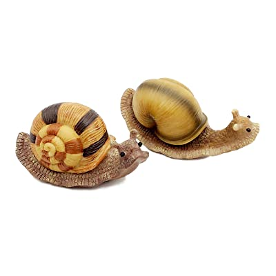 FICITI G111335 Snail Garden Statue Decoration Miniature Fairy Garden -Set of 2 : Garden & Outdoor