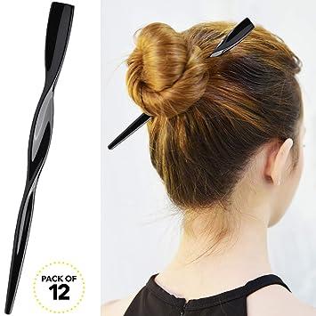 Amazon Rc Roche Ornament Womens Fashion Hair Sticks Flat Twist