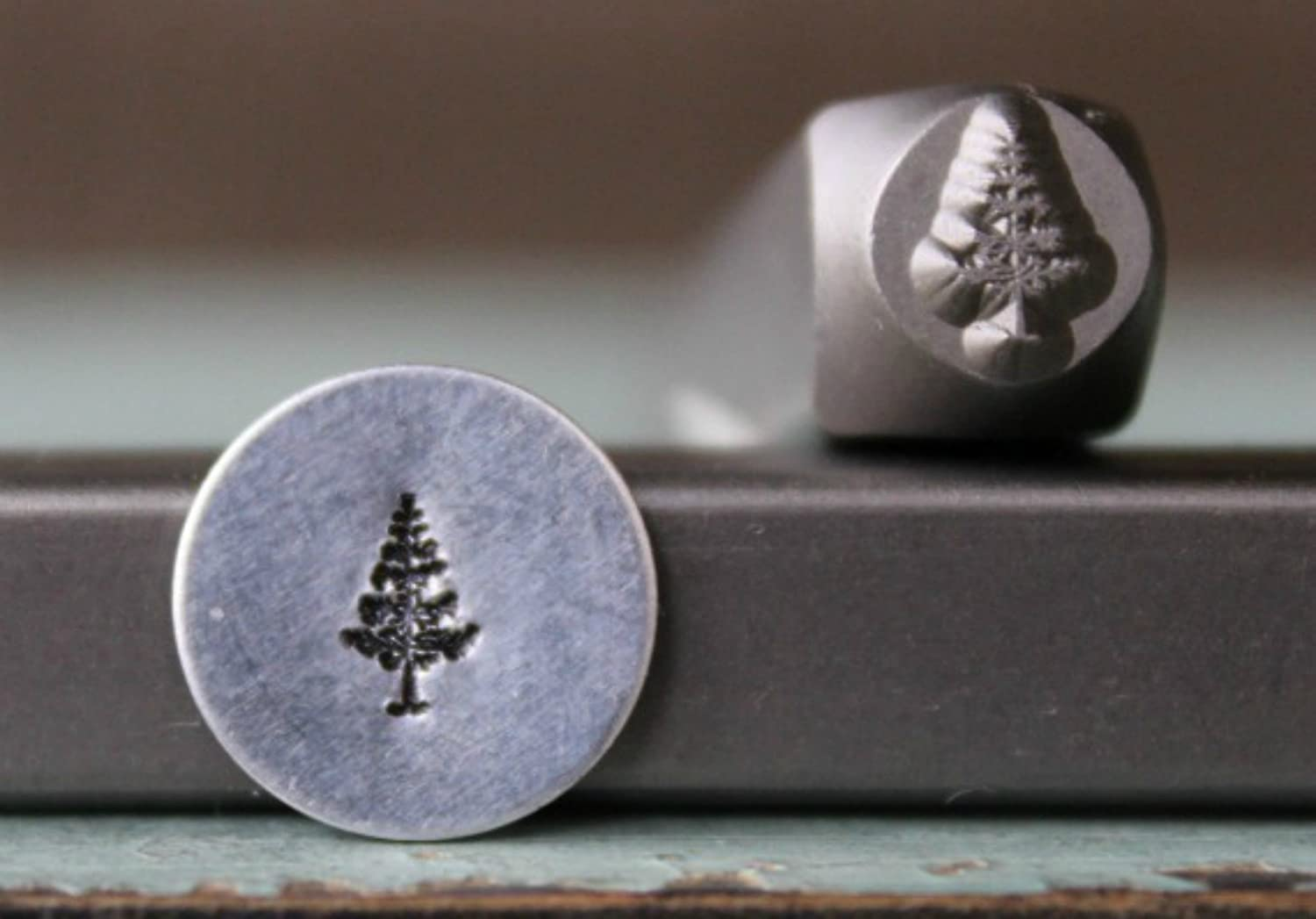 Brand New 6mm Pine Tree Metal Punch Design Stamp CH-197 Supply Guy