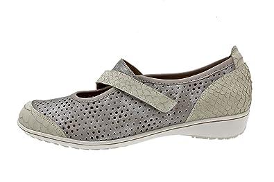 895076133113c Chaussure femme confort en cuir Piesanto 8757 ville basse semelle amovible  confortables amples