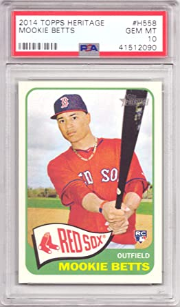 2014 Topps Chrome Update Mookie Betts PSA 9 RC Red Sox