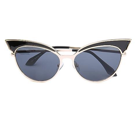 13cad8dc3fb Amazon.com  GAMT Trend Retro Sexy Cat Eye Sunglasses Yurt Sun Glasses Gold Frame  Black  Clothing